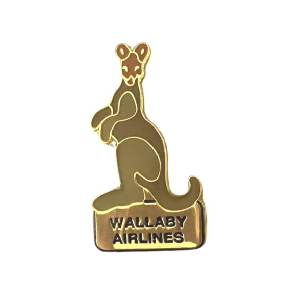 Wallaby Airlines Lapel Pin - Wallaby $10ea. Includes Postage.