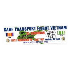 RAAF RTFV Bumper Sticker - $5ea. Includes Postage