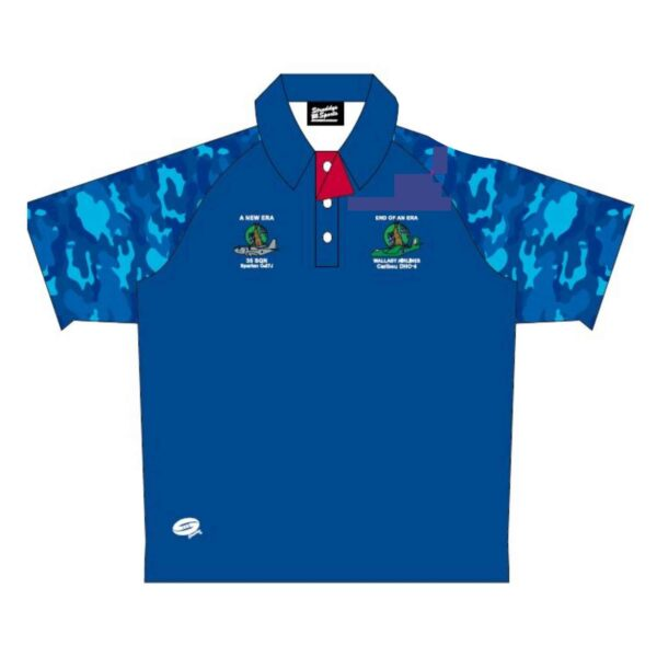 Wallaby Airlines Polo Shirt without pocket - Front