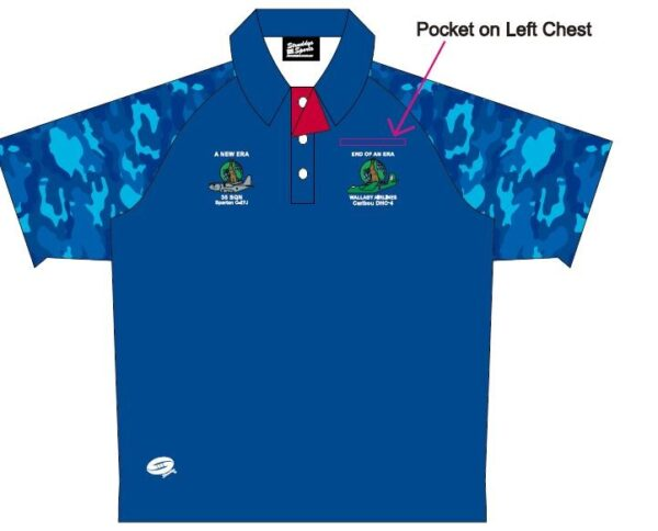 blue polo with pocket